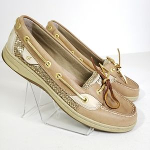 Sperry Topsider Leather Slip On Loafer Shoes 9